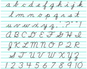 Handwriting sheets quaint scribbles