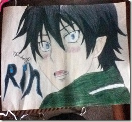 Rin Okumura Drawing By Hannah