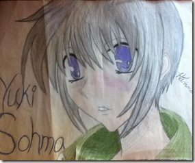 Yuki Sohuma Drawing by Hannah